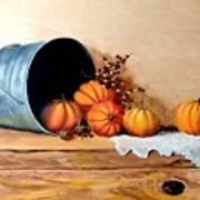 Five Little Pumpkins Art Print