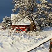 Five Mile Winter's Barn #9862 Art Print