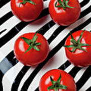 Five Tomatoes  Art Print