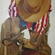 Fixing The Saddle Art Print