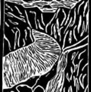 Fjord Norway - Limited Edition Linocut Print Art Print