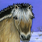 Fjord Pony Art Print