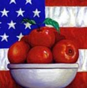 Flag And Apples Art Print