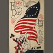 Flag Day 1917 Art Print