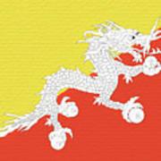 Flag Of Bhutan Wall Art Print