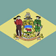 Flag Of Delaware Art Print