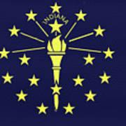 Flag Of Indiana Wall Art Print
