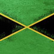 Flag Of Jamaica Grunge Art Print