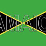 Flag Of Jamaica Word Art Print
