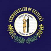 Flag Of Kentucky Wall Art Print
