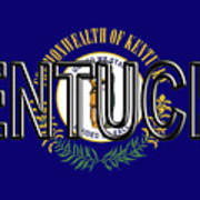 Flag Of Kentucky  Word Art Print