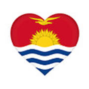 Flag Of Kiribati Heart Art Print