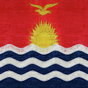 Flag Of Kiribati Texture Art Print
