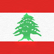 Flag Of Lebanon Wall Art Print