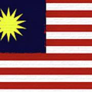 Flag Of Malaysia Wall. Art Print