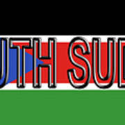Flag Of  South Sudan Word Art Print