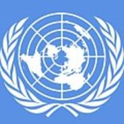 Flag Of The United Nations Art Print