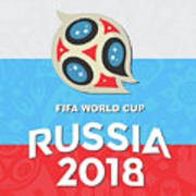 Flag Russia World Cup Art Print