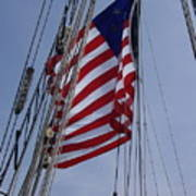 Flag Tall Ship Art Print