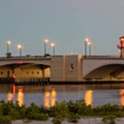 Flagler Bridge In Lights IIi Art Print