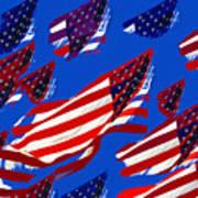 Flags American Art Print