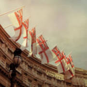 Flags Of London Art Print