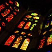 Flamboyant Stained Glass Window Art Print