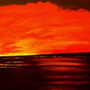 Flame Calm Art Print