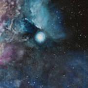 Flame Nebula Ngc 2024 - Triptyc Right Panel Art Print