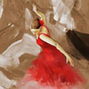 Flamenco Dance Women 02 Art Print
