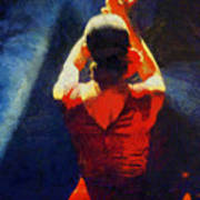Flamenco Dolores Art Print
