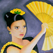 Flamenco Girl Art Print