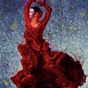 Flamenco Senorita Fuerza Art Print
