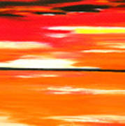 Flamescape Art Print