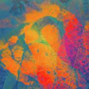 Flaming Foliage 1 Art Print