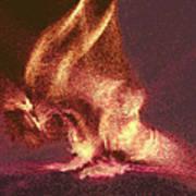 Flaming Gargoyle Art Print