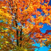 Flaming Maple - Paint Art Print