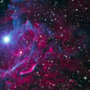 Flaming Star Nebula Art Print