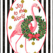 Flamingo Amore 2 Art Print