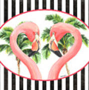 Flamingo Amore 5 Art Print