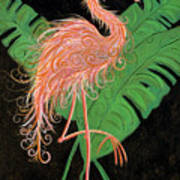 Flamingo Art Deco  Art Print