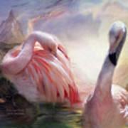 Flamingo Dawn Art Print