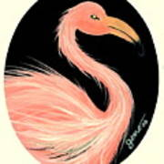 Flamingo Deco Art Print