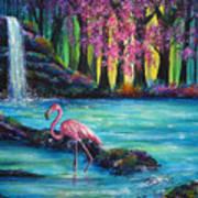 Flamingo Falls Art Print by Ann Marie Bone