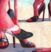 Flamingo Heels Art Print