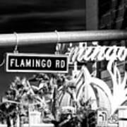 Flamingo Road Las Vegas Art Print