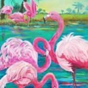 Flamingo Vacation Art Print