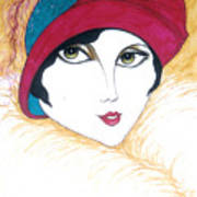 Flapper Girl 1 Art Print