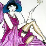 Flapper Girl 4 Art Print