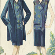 Flappers In Frocks And Coats, 1928  Art Print